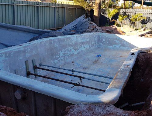 Pool renovation South Hedland (before) – September 2018
