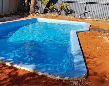 Fibre glass pool renovation Pilbara