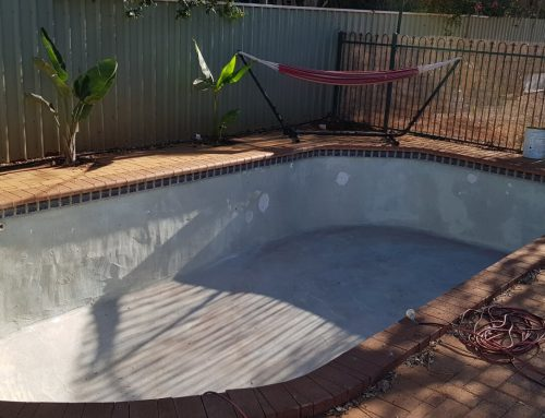 Concrete to fibreglass pool conversion South Hedland (before) – September 2018